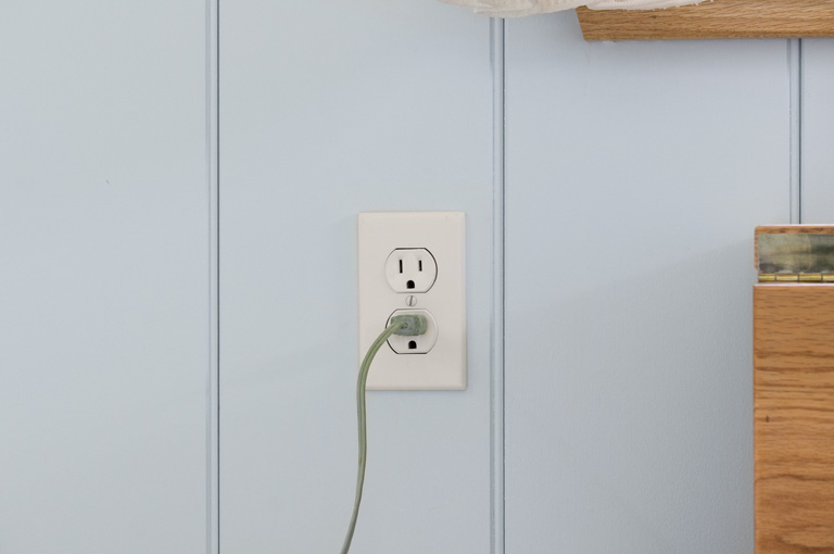 one of three plugs in a gute shepherd hut